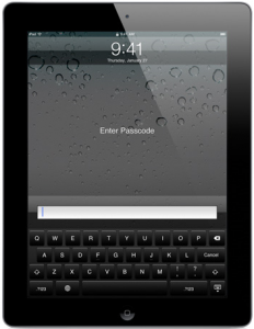 ipad Passcode screen