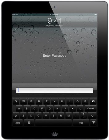 how to put passcode on ipad